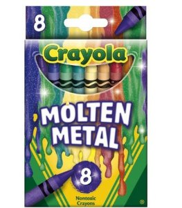 Crayola Meltdown Crayons (8 Pack), Molten Metal