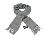Unineed.com | MOSCHINO Teddy Bear Solid Fringed Wool Long Scarf - Grey - Special Offer - Premium beauty and fashion from Unineed.com