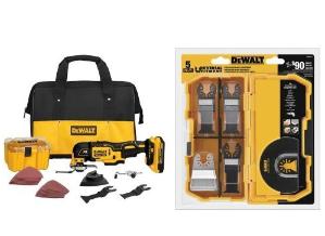DEWALT DCS355D1 20V XR Brushless Oscillating Multi-Tool Kit with DWA4216 5-Piece Accessory Kit Bundle