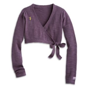 Purple Wrap Sweater for Girls