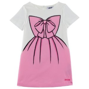 Moschino Pink Silhouette Print Dress | AlexandAlexa