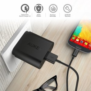 $8.49 AUKEY PA-T9 USB Wall Charger with Quick Charge 3.0