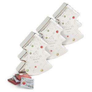 Holiday Chocolate Carre Tin   GODIVA