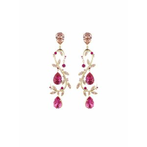 Teardrop Swarovski Crystal Vine Earrings - Sale