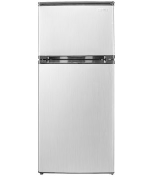 Insignia™ - 4.3 Cu. Ft. Compact Refrigerator - Stainless steel look