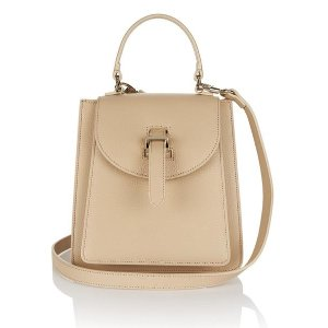 Leather handbag - floriana sand