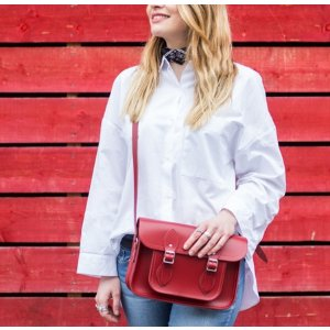 Berry Red 11 inch Classic Satchel | Cambridge Satchel Company