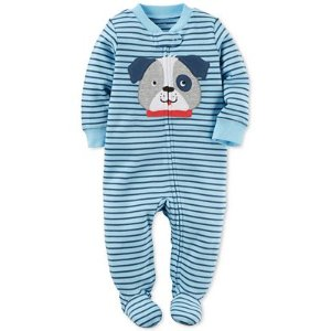 Carter's 1-Pc. Striped Dog Footed Coverall, Baby Boys (0-24 months) - Carter's - Kids & Baby - Macy's