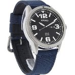 $88.57 Seiko Men's SNE329 Sport Solar-Powered Stainless Steel Watch with Blue Nylon Band