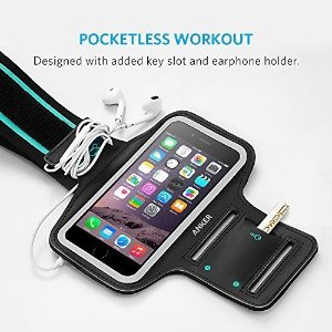 iPhone 6s Armband, Anker Sport Armband for iPhone 6 / iPhone 6s (4.7 inch) with Headphone and Key Slots and 2 Extra Cuttable Velcro Strips