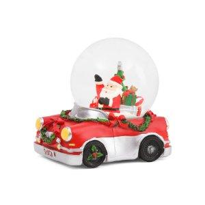 Light Up Driving Santa Snow Globe - Rustic Woodland - T.J.Maxx