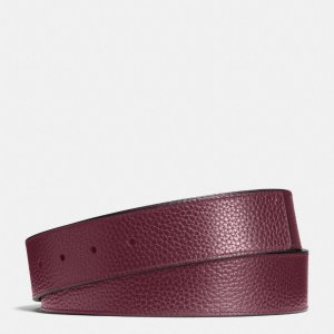 COACH: Cut-to-size Reversible Leather Belt Strap