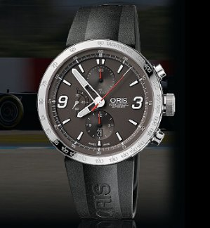 ORIS TT1 Chrono Black Rubber Stainless Steel Men's Watch