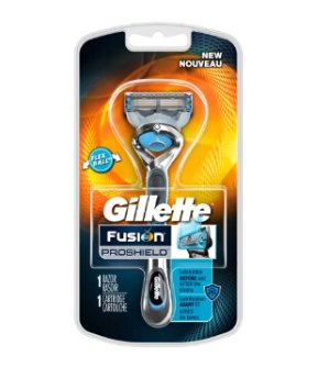 Gillette Fusion Proshield Chill Men's Razor with Flexball Handle and Razor Blade Refill