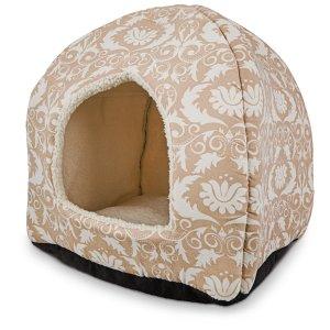 Petco Restful Snuggler Brown Pyramid Cat Bed, 14