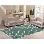 $27.97 Paterson 摩洛哥格栅设计图案地毯,鼠尾草绿
