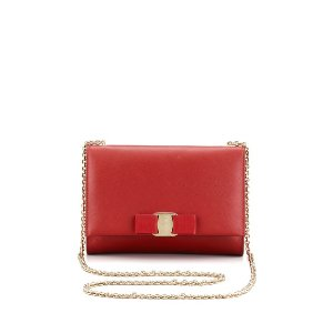 Salvatore Ferragamo Miss Vara Bow Wallet-on-a-Chain, Red