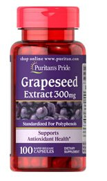 2 For $38.25, 5 For $76.49Grapeseed Extract 300 mg / 100 Capsules
