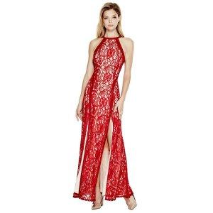 Alina Sleeveless Lace Maxi Dress