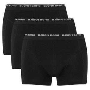 Bjorn Borg Men's 3 Pack Trunk Boxer Shorts - Black Mens Underwear | TheHut.com