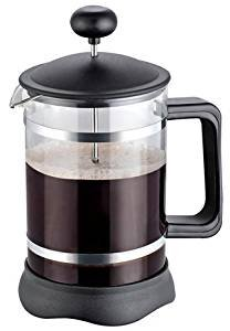 French Coffee Press (3-Piece-Black) - 34 oz, Espresso and Tea Maker with Triple Filters