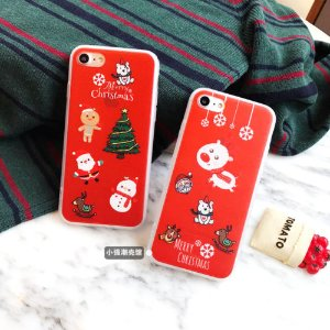 For iPhone 7 7 Plus 6 6S Cartoon Christmas Cute Red Santa Claus Soft Bumper Case | eBay