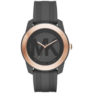 Michael Kors Women's Preston Charcoal Silicone Strap Watch 43mm MK2560 - A Macy's Exclusive - Watches - Jewelry & Watches - Macy's
