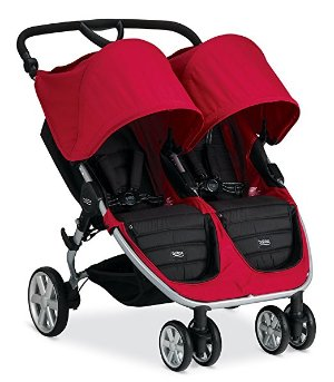 $319包邮Britax 2015 B-Agile 双座儿童推车,红色