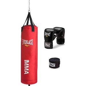 $59Everlast  MMA 70磅拳击重量训练套装 红色