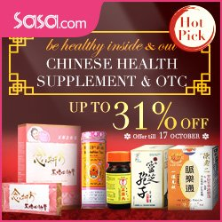 Up To 31% Off Chinese Health Supplement & OTC @ Sasa.com