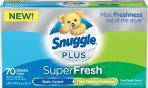 $2.98 Snuggle Plus Super Fresh Fabric Softener Dryer Sheets 105
