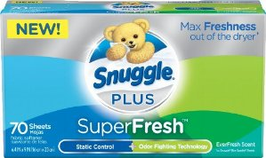 Snuggle Plus Super Fresh Fabric Softener Dryer Sheets 70 Count