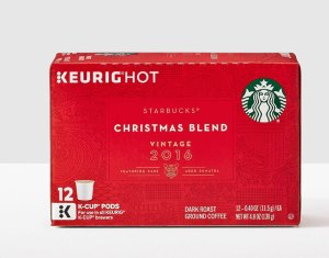 $35.96 + $20 eGift Card4x Starbucks Vintage 2016 Christmas Blend K-Cup 12-Packs
