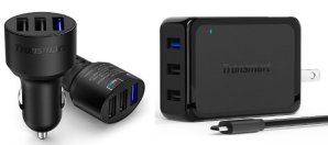 $10.48 Tronsmart QC 2.0 42W 3-Port USB Wall & Car Charger Bundle