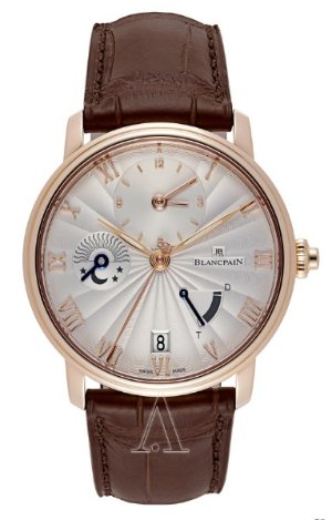 $11362.00(reg. $29900) Blancpain Men's Villeret Half Time Zone Watch
