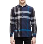 $147.55 Burberry Brit Long-Sleeve Exploded Check Sport Shirt, Blue @ Neiman Marcus