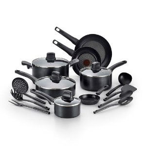 $69.99 + $20 Rebate + $10 Kohl's Cash T-Fal Intuition 18-pc. Nonstick Cookware Set