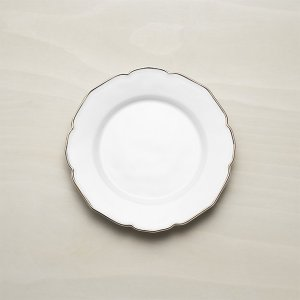 Savannah Salad Plate with Gold Rim | Crate and Barrel