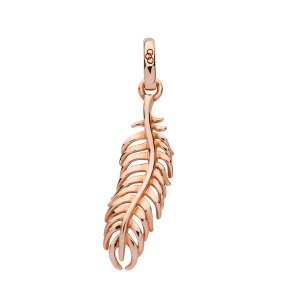 Amulet 18K Rose Gold Vermeil Feather Charm | Women Charms, Official Links of London