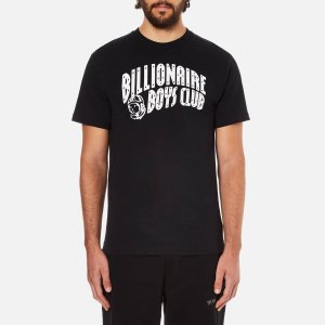 Billionaire Boys Club Men's Arch Logo Reflective Ski-Grid Short Sleeve T-Shirt - Black - Free UK Delivery over £50