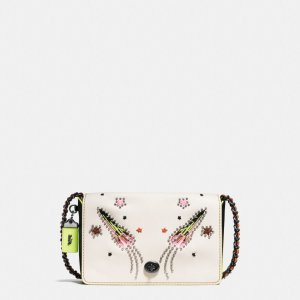 COACH: Dinky Crossbody 24 In Glovetanned Leather With Rocket Embellishment