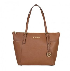 MICHAEL KORS Jet Set Large Top Zip Saffiano Leather Tote