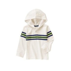 Stripe Hooded Henley at Crazy 8