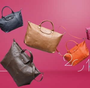 Up to 30% Off + Up to $100 Gift Card Longchamp Women Handbags Sale @ Bloomingdales