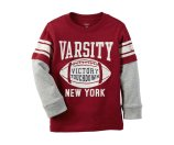 Toddler Boy Long-Sleeve Layered-Look Football Graphic Tee | Carters.com