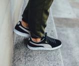 Men's Puma Suede S Black/White | Shoe Carnival