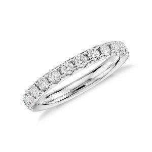 Riviera Petite Micropavé Diamond Ring in 14k White Gold (1/10 ct. tw.)   Blue Nile