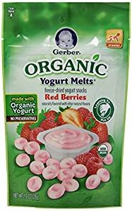 $16.61 Gerber Organic Yogurt Melts Fruit Snacks, Red Berries, 1 Ounce (Pack of 7)