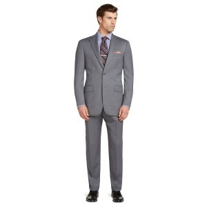Signature Collection Traditional Fit Solid Pattern Suit - Signature Suits   Jos A Bank