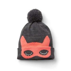 Cat mask pom-pom beanie | Gap